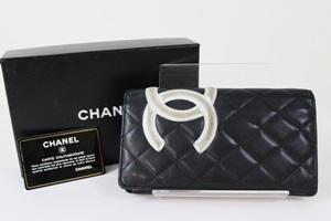 CHANEL シャネル カンボンライン 二つ折り 長財布