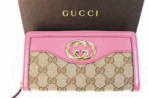 buy online ee421 a49ea GUCCI グッチ スーキー キャンバス ラウンドファスナー長財布 ...