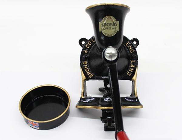 スポング 手動 コーヒーミル No.1 英国製 受け皿付