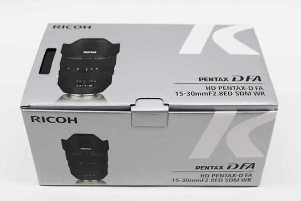 ペンタックス HD PENTAX-D FA 15-30mm F2.8ED SDM WR