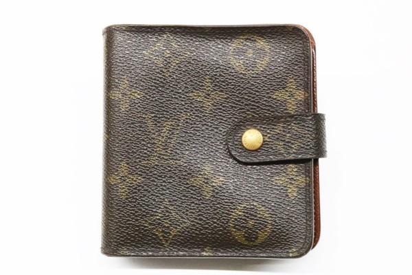ルイヴィトン コンパクトジップ M61667 モノグラム 二つ折り 財布