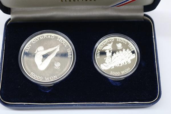 1988年 韓国 ソウルオリンピック 記念硬貨セット 10000won 5000won 銀貨