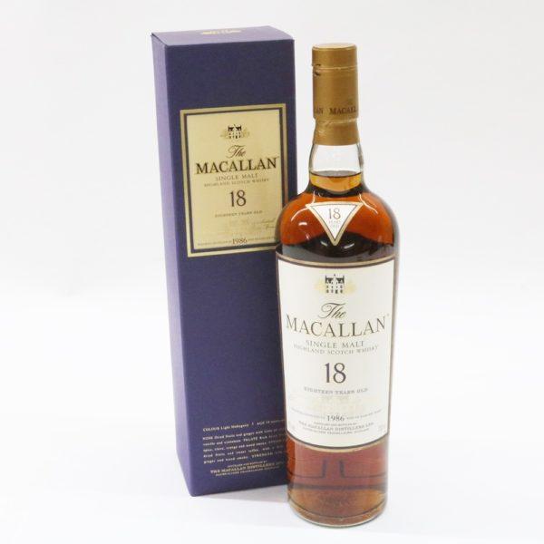 MACALLAN マッカラン 18年 1986 シェリーオークカスク 700ml 43% ウイスキー