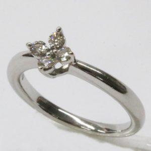 田崎真珠 K18WG ダイヤモンド 0.16ct リング