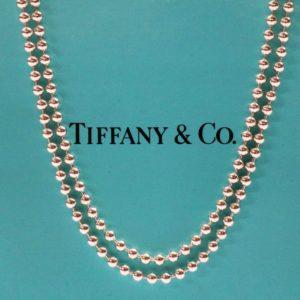 TIFFANY&Co. ティファニー ロング ボールチェーン ネックレス Sv925
