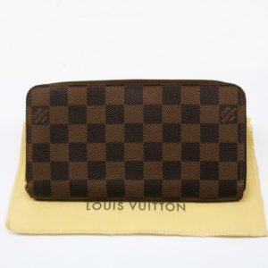 ルイヴィトン ジッピー ウォレット N60015 ダミエ エベヌ ラウンドファスナー 長財布