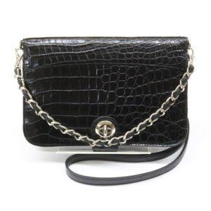 cocco cristallo コッコクリスターロ 2wayバッグ 黒 ウォレット ショルダーバッグ ハンドバッグ 財布 ショルダーウォレット チェーン