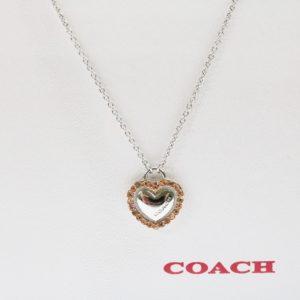 COACH コーチ ロゴ ハート ネックレス