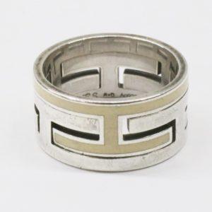 HERMES エルメス ムーブアッシュ リング #52 12号 アイボリー シルバー925 指輪 スターリング レディース アクセサリー Ag925