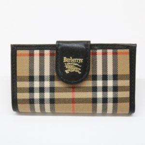Burberrys バーバリーズ 4連 キーケース ノバチェック レザー