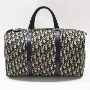 Christian Dior クリスチャンディオール トロッター ボストンバッグ ネイビー ヴィンテージ ハンドバッグ 旅行用バッグ 旅行鞄 トラベル