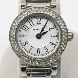 COACH コーチ クリアストーンベゼル ラウンドフェイス 腕時計 CA.72.7.14.0737S