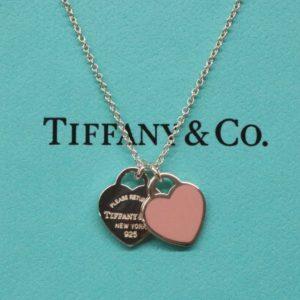 TIFFANY&Co. ティファニー リターン トゥ ティファニー ピンク ダブルハートタグ ペンダント Sv925 ネックレス