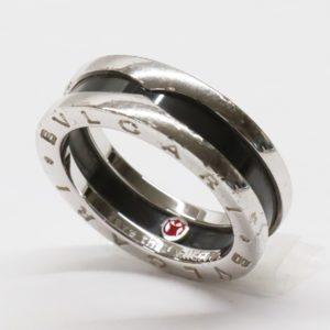 BVLGARI ブルガリ セーブ ザ チルドレン シルバー925 リング セラミック ブラック ビーゼロワン 指輪 Ag925